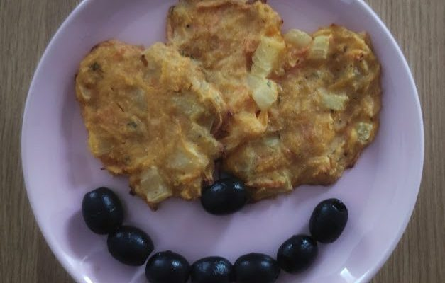 Butternut Squash Fritters and Olives