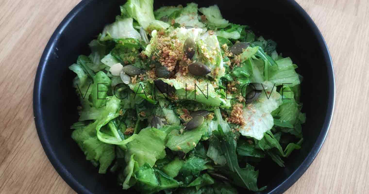 Super Ensalada Verde Vegana Receta Facil Vegan In Love