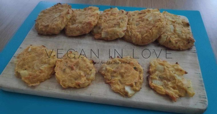 Butternut squash and carrot fritters