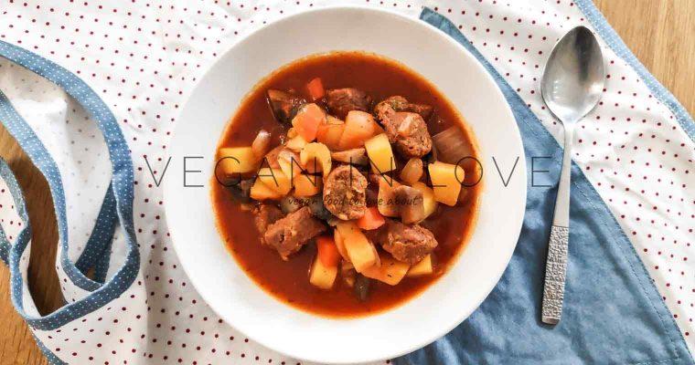 Vegan sausage soup