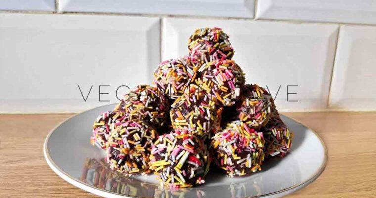 Leftover chocolate cake truffle